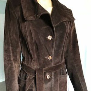 Learsi Vintage Chocolate Suede Leather Jacket Sz S